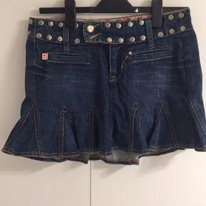 Betsey Johnson Denim Skirt